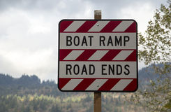 Boat Ramp: Road Ends Royalty Free Stock Photo
