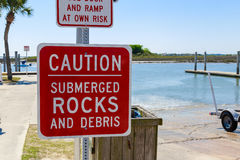 Boat Ramp Signs Royalty Free Stock Image