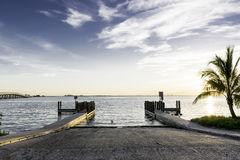 Boat Ramp At Sunrise royalty free stock photos