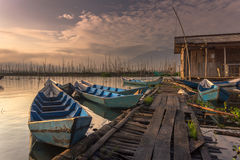 Boat. Rawa pening lake central java indonesia Royalty Free Stock Photos