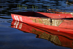 Boat and reflection Royalty Free Stock Photo