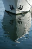 Boat reflection Stock Image