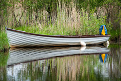 Boat reflection abstract Royalty Free Stock Photo