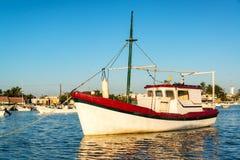 Boat and Reflection in Rio Lagartos Royalty Free Stock Photo