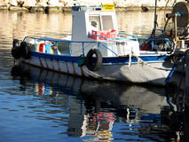 Boat reflections Royalty Free Stock Images
