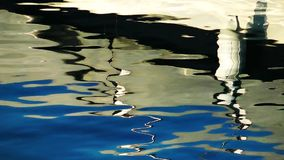 Boat Reflections on the Sea Water stock video footage