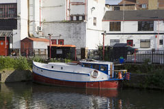 Boat on the Regent Canal. Royalty Free Stock Image