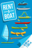 Boat rent poster Stock Photography