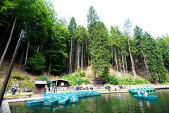 Boat rent station. In Rathen, Germany Royalty Free Stock Photo
