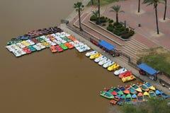 Boat rental at the HaYarkon Park on the outskirts of Tel Aviv Stock Photos