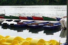 Boat rental at lake Royalty Free Stock Photo