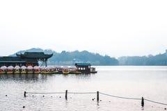 Boat rental parking. Royalty Free Stock Photo
