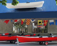 Boat rental store Royalty Free Stock Photos
