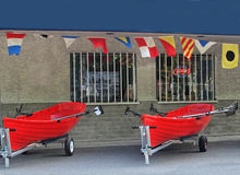 Boat rental store Royalty Free Stock Images