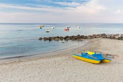 Boat rentals on the island Stock Image