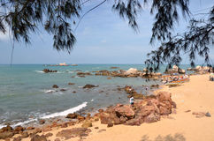 Boat rentals in the park World's end, China, Hainan. Sania Stock Photo