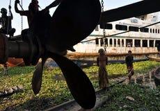 Boat repair stock images