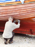 Boat repair Stock Photography