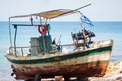 Boat repair at Thassos. Stock Images