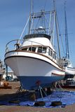 Boat repairs, Astoria OR. Royalty Free Stock Photography