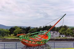 Boat replica in Dingle Penisula, County Kerry, Ireland Royalty Free Stock Images