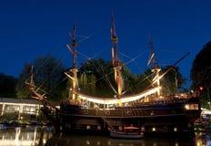 Boat Restaurant in Tivoli Royalty Free Stock Photography