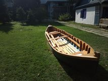 Boat resting on the grass Stock Photography