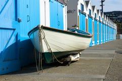 Boat resting at the Marina, Wellington. royalty free stock photos