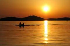 Free Boat Returning At Sunset Royalty Free Stock Photo - 4016035