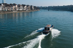 Boat on the Rhine Basel in switzerland Royalty Free Stock Image