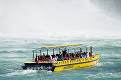 Boat at the Rhine Falls Stock Photography