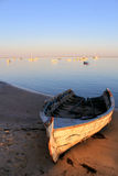 Boat in Ria Formosa park, Algarve. Royalty Free Stock Images