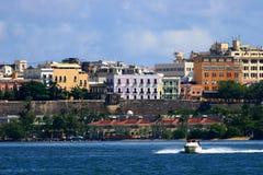 Boat ride. At San Juan's bay Stock Photos