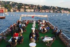Boat ride on Bosporus stock image