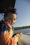Boat Ride Boy Royalty Free Stock Photos