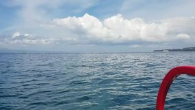 Boat ride in Candidasa, Bali, Indonesia stock video