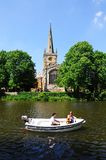 Boat ride and church, Stratford-upon-Avon. Royalty Free Stock Image