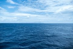Boat ride in Java sea Stock Images
