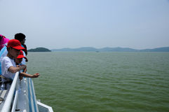 Boat Ride on Lake Tai Wuxi Royalty Free Stock Images