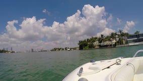 Boat ride Miami video stock video