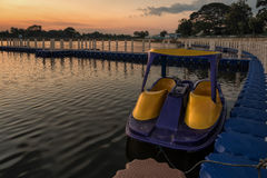 Boat ride in the park Royalty Free Stock Photography