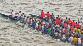 Boat ride. Place:balirtek,manikganj village people Stock Photos