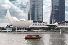 Boat ride in Singapore Royalty Free Stock Image