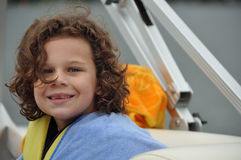 A boat ride and a smile Royalty Free Stock Image