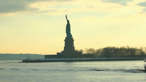 Boat Ride Statue of Liberty Sequence. V9. Two clips of Statue of Liberty from boat ride stock video footage