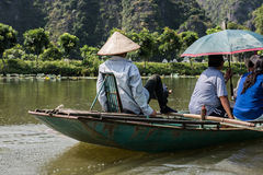 Boat Ride in Tam Coc Royalty Free Stock Photos