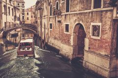 Boat riding in Venice Stock Photography