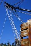 Boat rigging, block & tackles Royalty Free Stock Photos