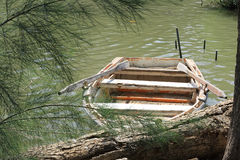 Boat on the river royalty free stock image
