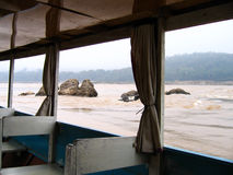 The boat on River. The boat on the Mekong River in Laos Stock Photo